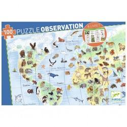 Puzzle observation - Les animaux du monde