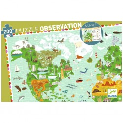 Puzzle observation - Tour du monde