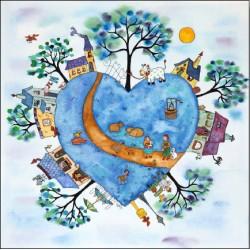 Puzzle bois 25 pièces - La planète bleue