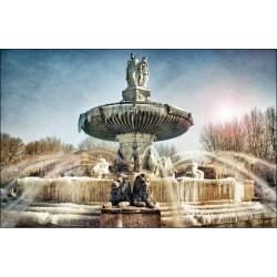 Puzzle bois 370 pièces - Fontaine de la Rotonde à Aix