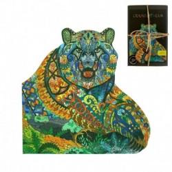 Puzzle bois 122 pièces L'ours rêveur (boite carton)