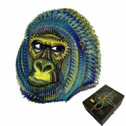 Puzzle bois 215 pièces Le gorille king (boite carton)