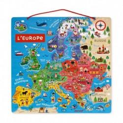 Carte d'Europe magnétique