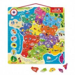 Carte de France magnétique