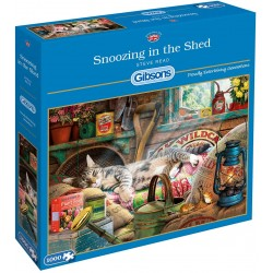 Puzzle 1000 pièces Snoozing in the shed