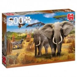 Puzzle 500 pièces - Savane africaine